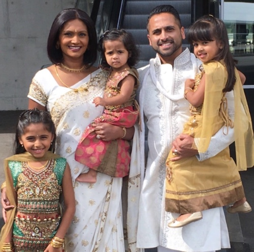 Anusha Cooray with her Family